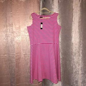 pink & white striped Talbot dress